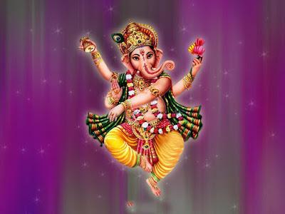 Good Morning With Dancing Ganesha