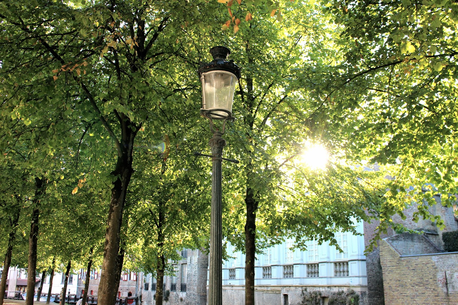 Luxury travel blogger in Belgium at summer