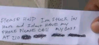 The note the banker wrote inside the ATM room