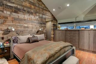 dormitorio rústico abuhardillado