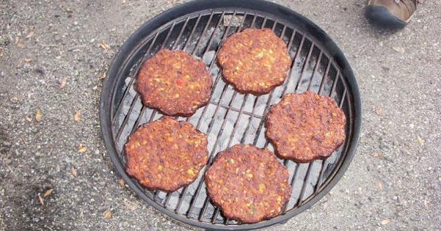 hamburguesas vegetarianas a la parrilla