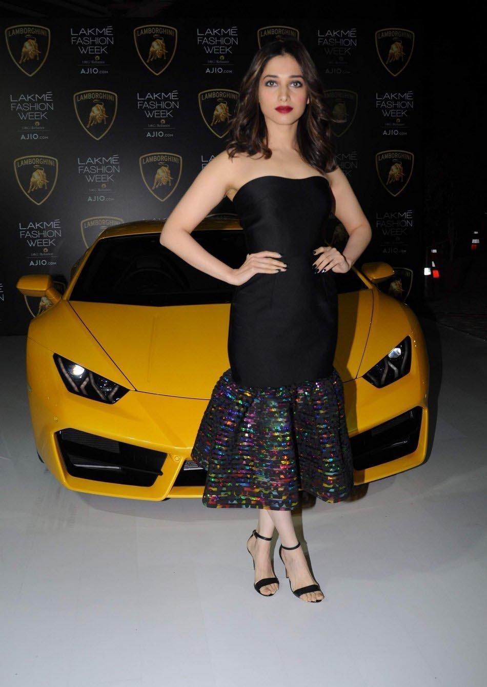 Actress Tamannaah Stills at Lakme Fashion Week
