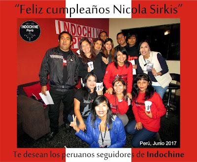 Indocafé por los 58 años de Nicola Sirkis