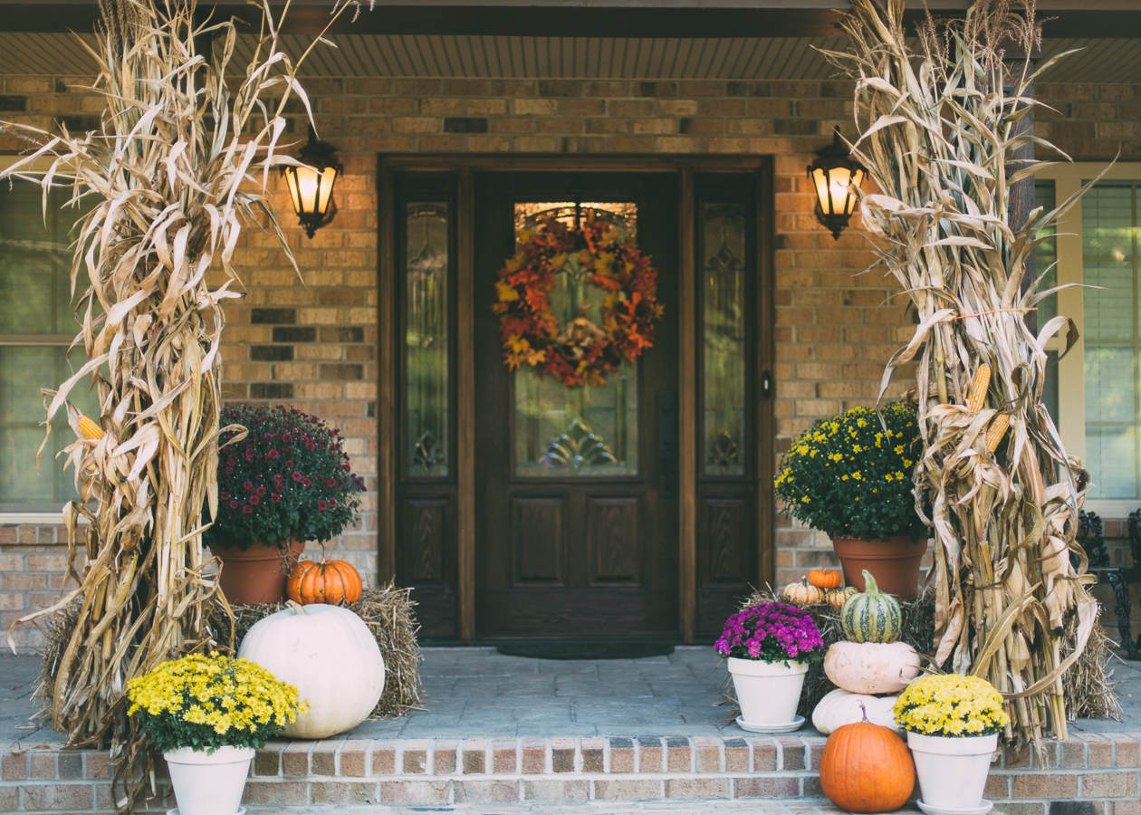 fall porch, fall decor, southern living fall, southern living