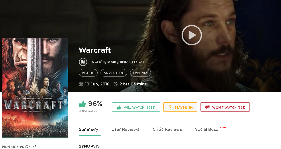 Warcraft 2016 Hindi Dubbed Full Movie 300mb 700mb Downloads Free Movie