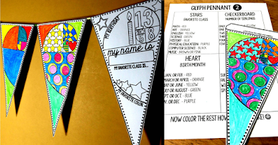 This back to school math activity is a perfect get to know you activity to start a new school year. There are multiple versions of the math pennant included and glyph directions if you'd like to give more structure to the activity. The finished pennants are a colorful addition to your math classroom decor and make for a welcoming classroom. Now includes a digital drag and drop version of the back to school math activity in GOOGLE Slides to meet the needs of distance learning. Happy back to school!