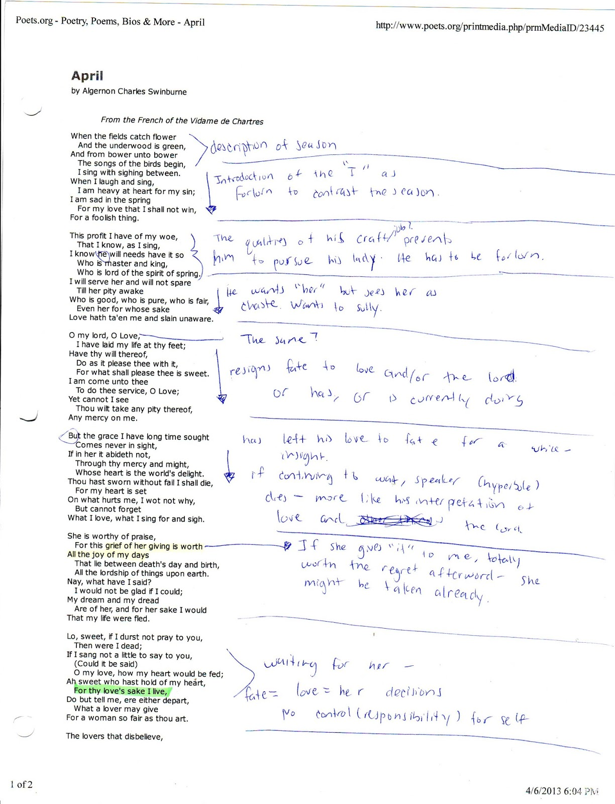 Poems Easy To Analyze 7