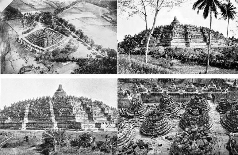 Gambar bentuk candi Borobudur