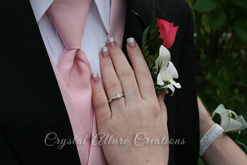 Courntey rockin' her pre-engagement diamond ring -Handmade Jewelry by Crystal Allure