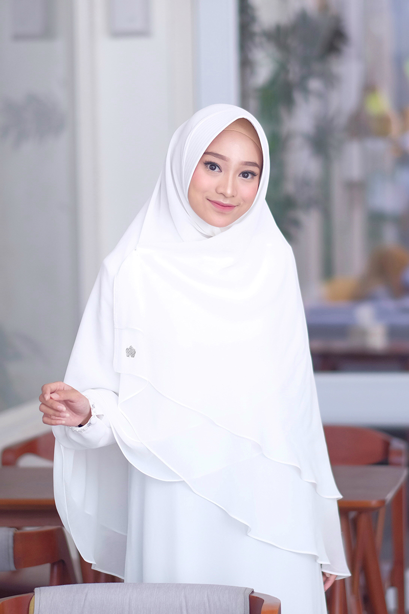 jilbab rabbani putih untuk sekolah