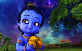 Animated Baby Krishna  Wallpaper