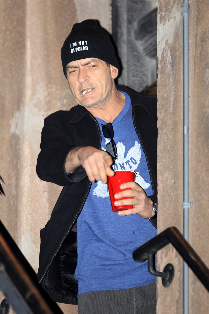 """""""I'M NOT BIPOLAR"""" beanie as worn by Charlie Sheen. PYGOD.COM"""