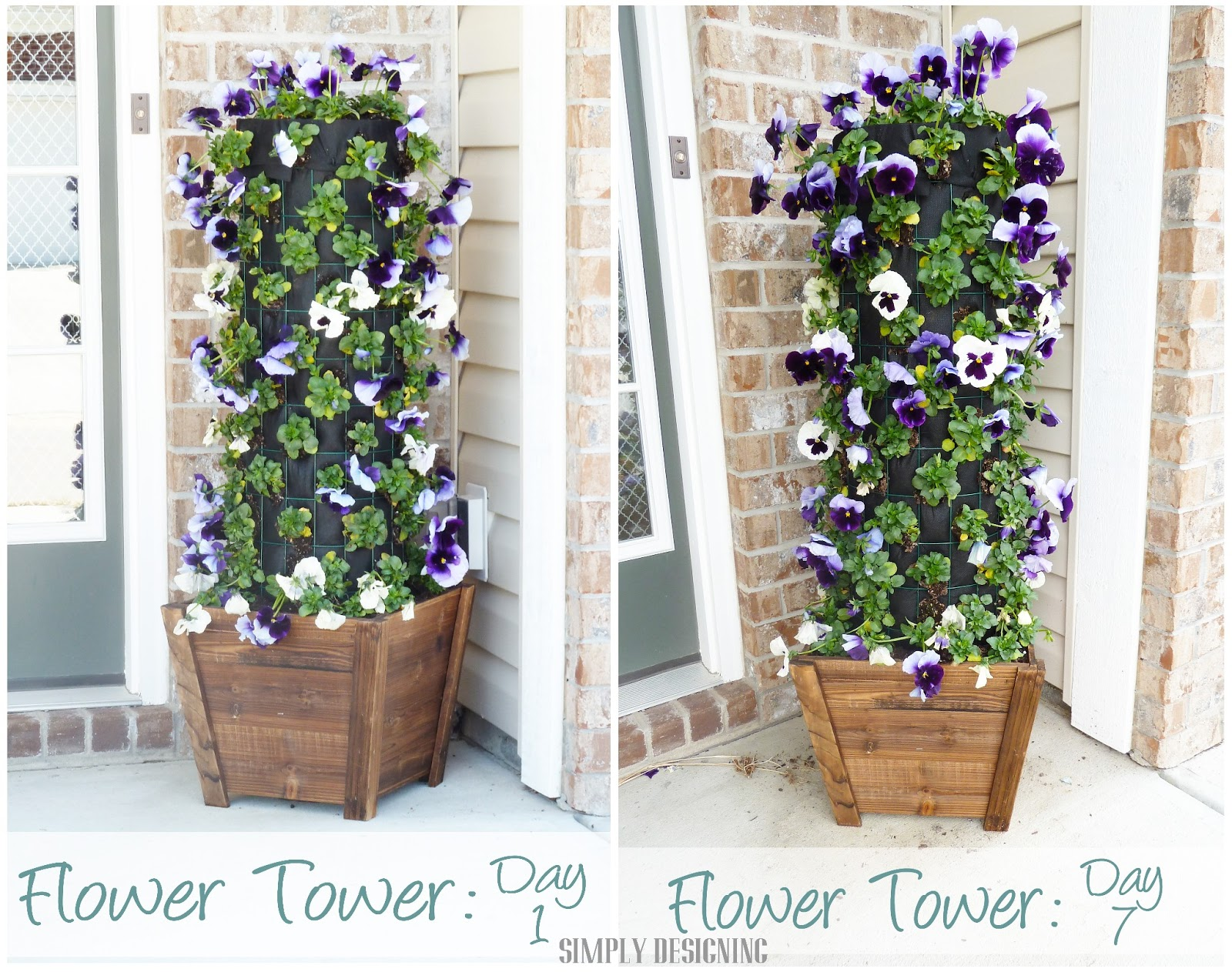 How To Make Beautiful Flower Pots At Home Diy Flower Tower Part 4 Digin Heartoutdoors Spring