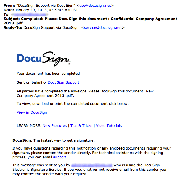 DocuSign Spam