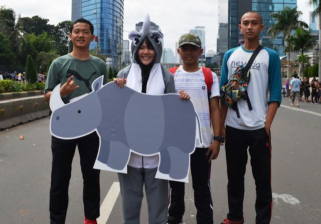 Eh ada Komunitas Mahasiswa Cinta Badak Jawa