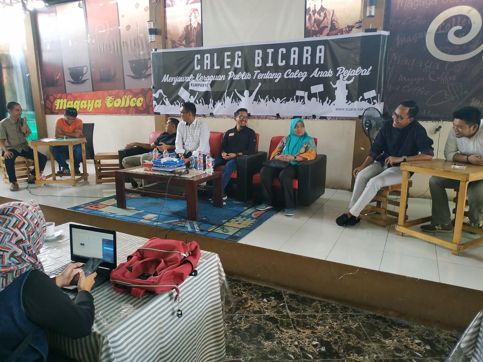 Diskusi Publik Jawab Keraguan Tentang Caleg Anak Pejabat, Hanya Ini yang Caleg Anak Pejabat Hadir