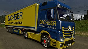 Dachser trailer and skin for Mercedes MPIV