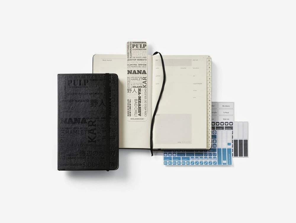 Moleskine reading journal to fee better with fiction