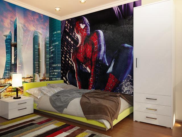 Dormitorio hombre ara a spiderman bedroom by dormitorios - Dormitorios infantiles tematicos ...