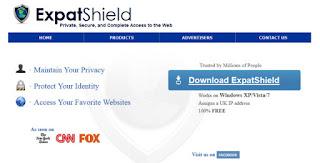 برنامج فتح المواقع المحجوبة .expat shield