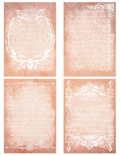 collage sheet background art script atc crafting digital