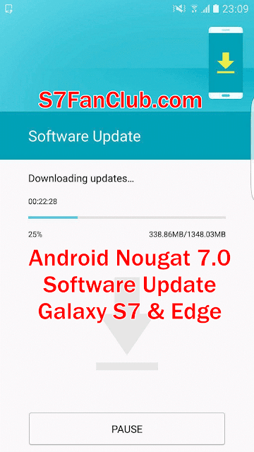 Download Android Nougat Firmware Samsung Galaxy S7 Edge OTA Update