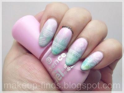 Stamping: Manicura de Pascua pastel (BP-60-L013)