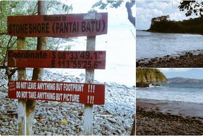 pantai batu atau stone beach
