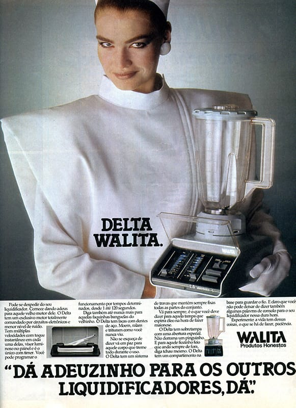 Propaganda antiga do liquidificador Walita nos anos 80