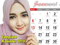 Free Download Template Kalender 2019 Indonesia & Jawa Pdf, Cdr, Jpg, Ai dan Png Lengkap