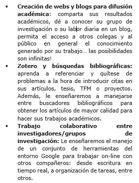 catalogo cursos de investigacion ebaes
