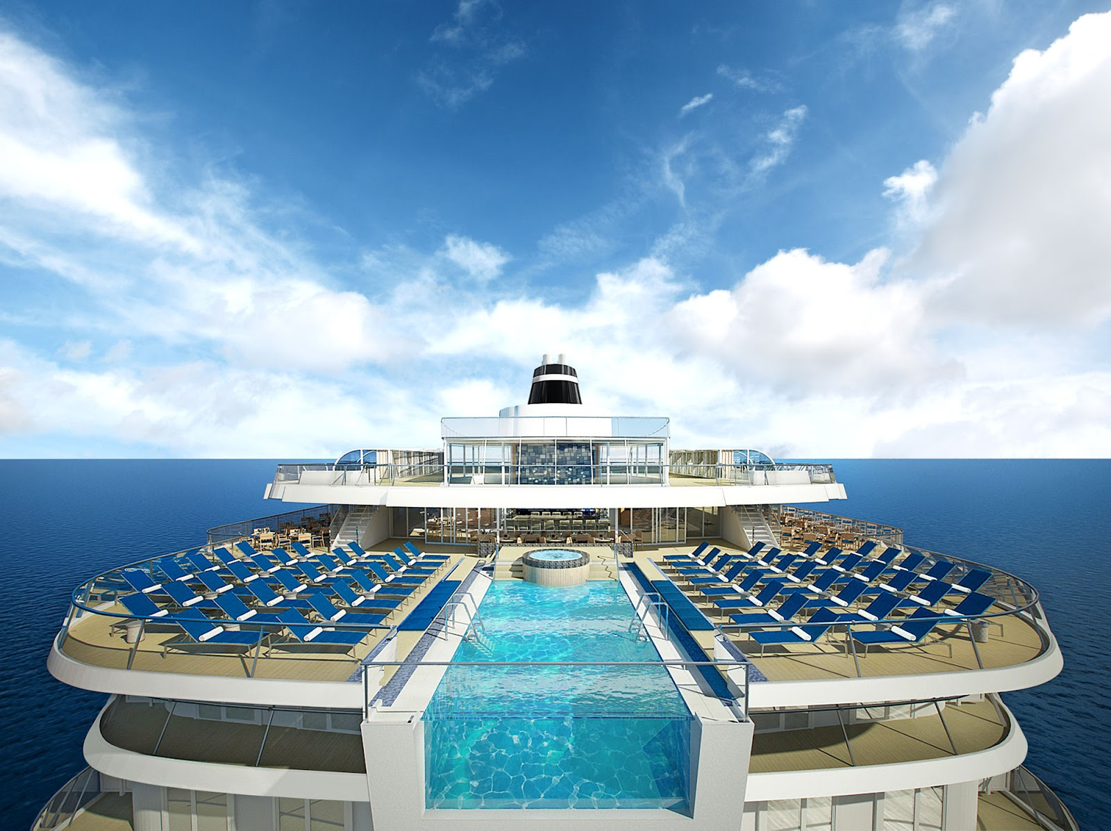 Viking Oceans Cruises will introduce the industry's first infinity pool adjacent to the Aquavit Terrace. Photo: ©Viking Cruises.