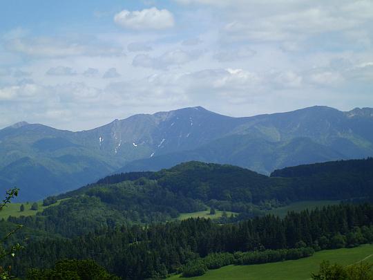 Drugi co do wysokości szczyt Małej Fatry - Mały Krywań (słow. Malý Kriváň, 1671 m n.p.m.).