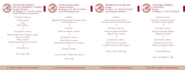 Pandino nel Piatto dal 9 al 31 Ottobre Pandino (CR)