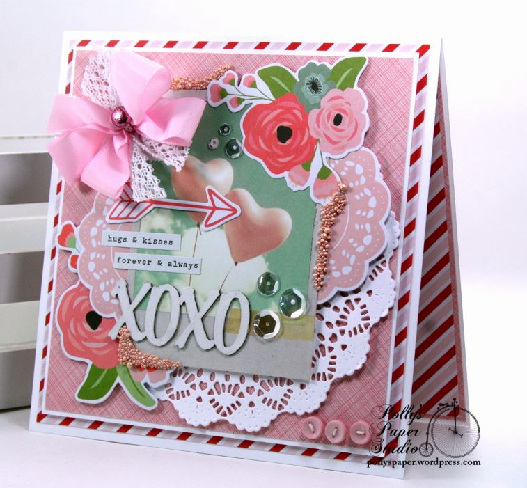 Really reasonable ribbon blog hugs and kisses valentine greeting card ive created a vintagy inspired greeting card m4hsunfo