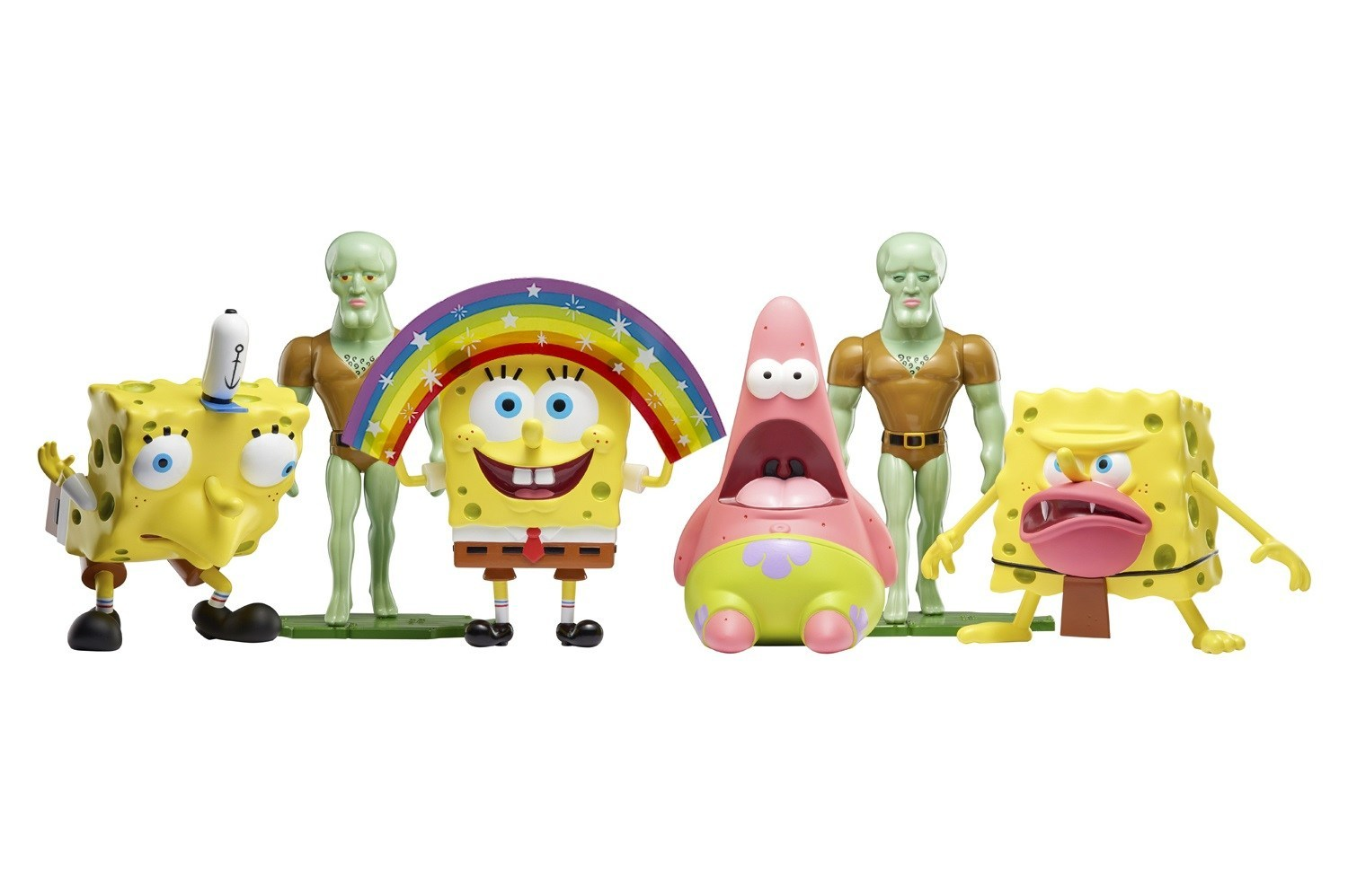 Alpha groups brand new spongebob squarepants product line is certain to excite a multi generation fan base masterpiece memes figures bring to life