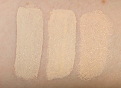 concealer showdown comparison light pale skin fair Sephora high coverage concealer light beige it cosmetics bye bye under eye light nars radiant creamy chantilly review swatch swatches