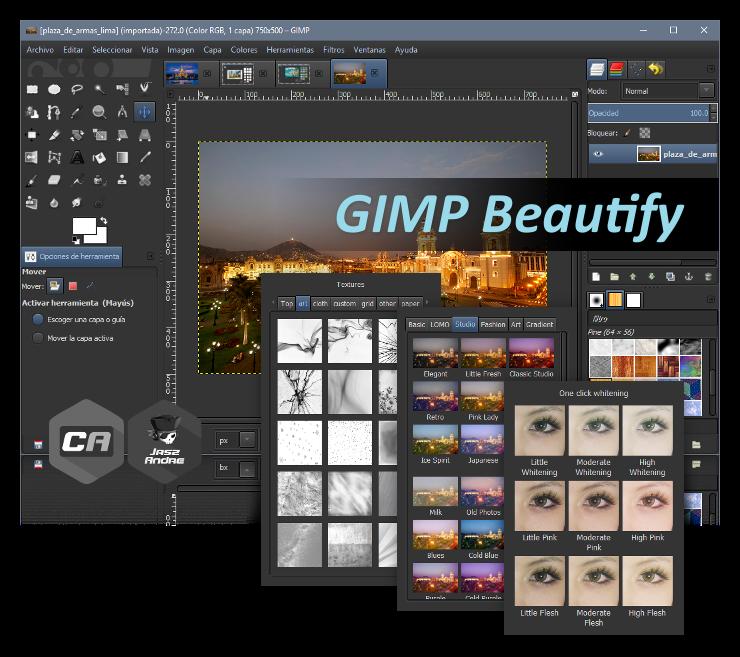Instalar GIMP Beautify for Windows - Retoque fotográfico basado en filtros usando GIMP