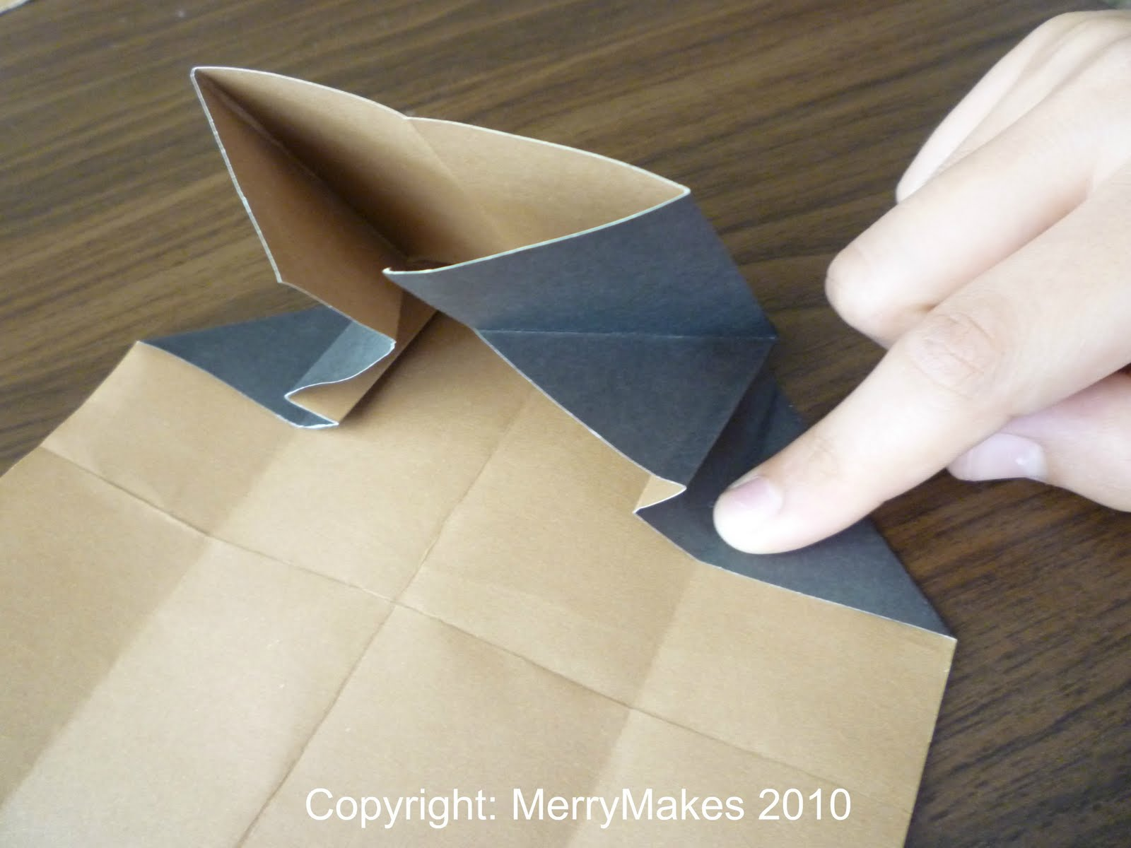 ..An Easy Origami Note-holder !   MERRY MAKES - photo#50