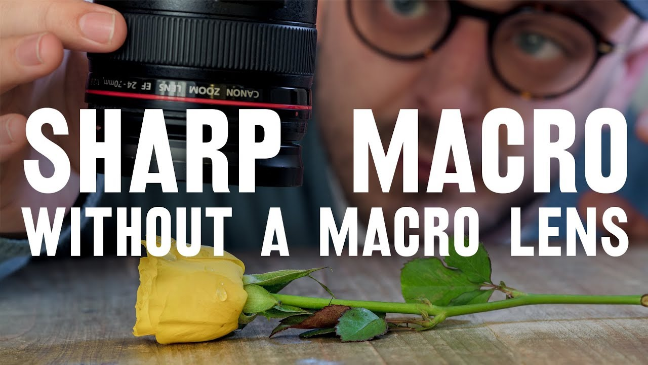 MACRO lens HACK — close up WITHOUT losing DEPTH OF FIELD