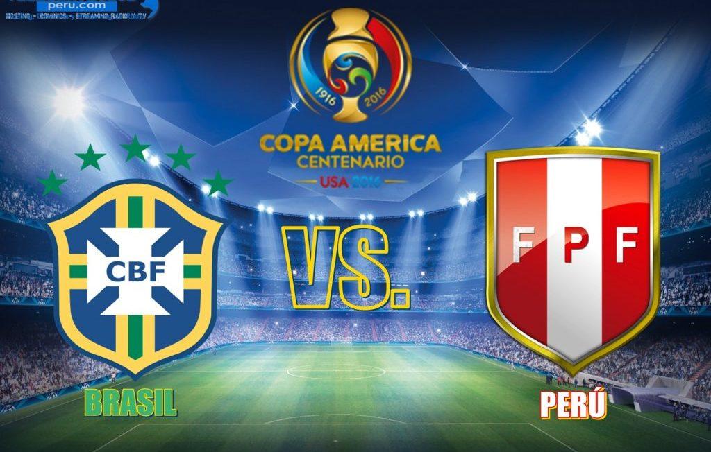 deporte futbol peru vs brasil hoy en la copa america