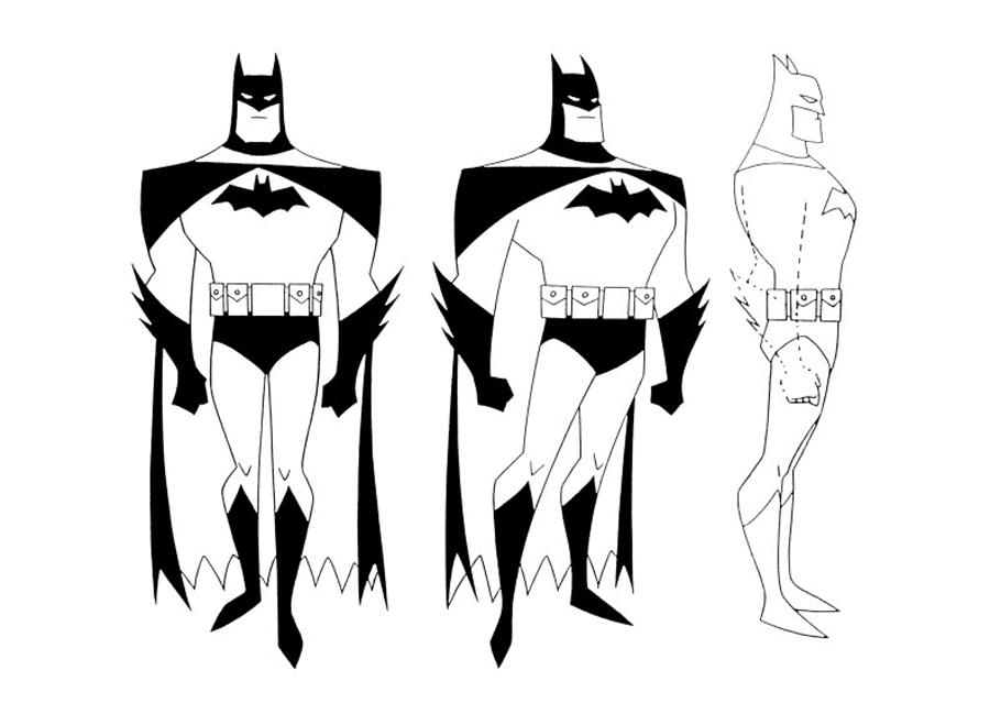 Animated Series Concept Art Animated Series Two Face Batman