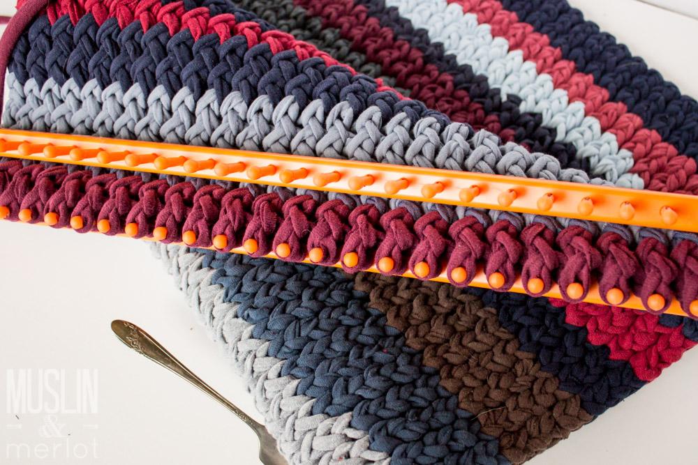 Knitting Loom T Shirt Rug