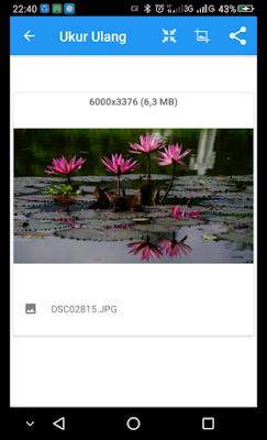 Ukuran File Foto Sebelum di Resize