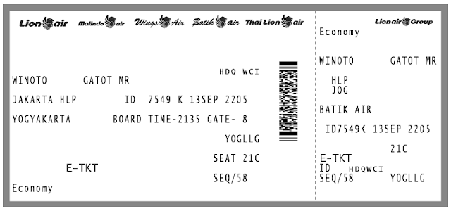 Hasil Boarding Pass Passenger Copy Batik Air