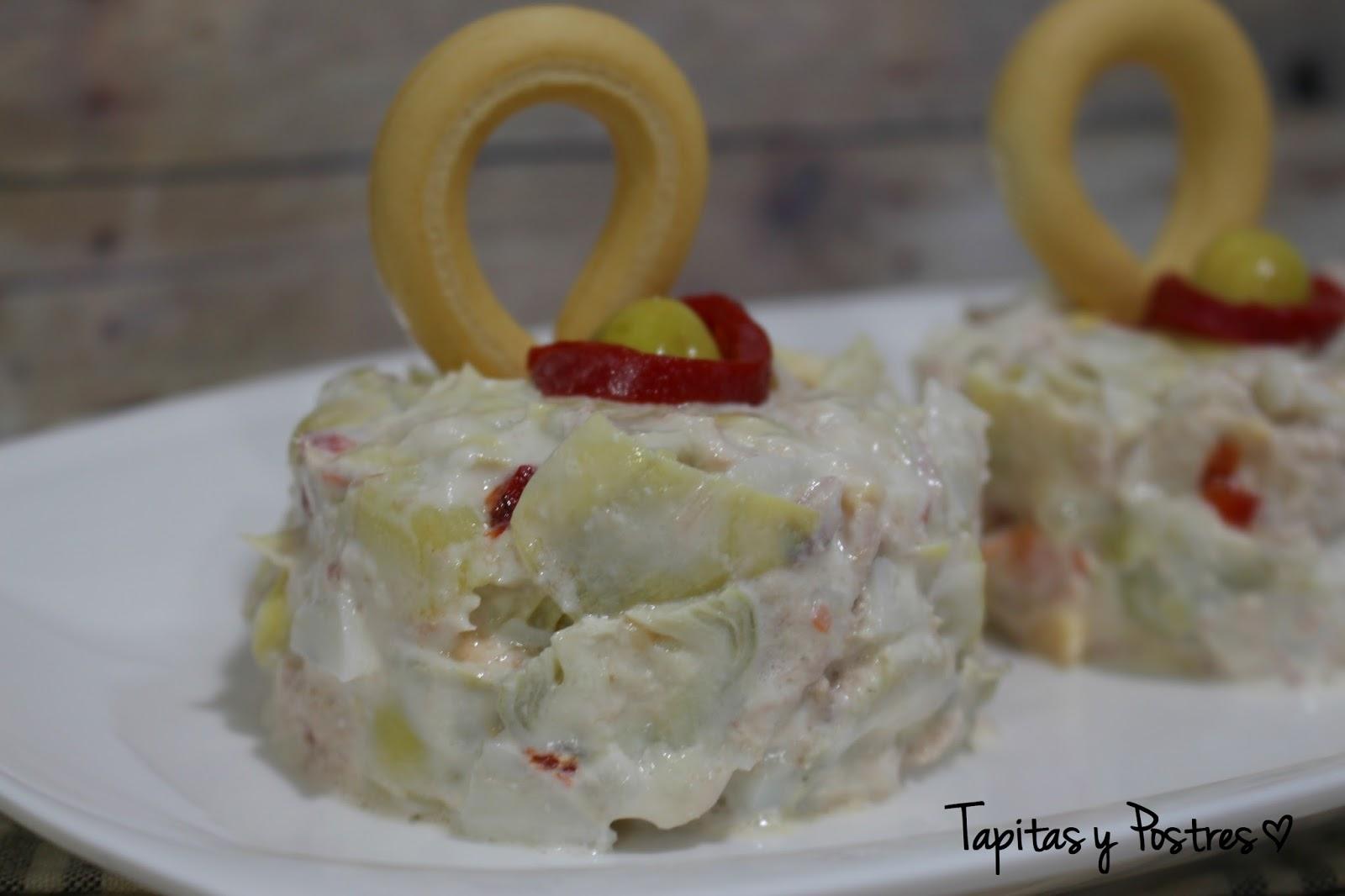 Tapitas y postres ensaladilla rusa de alcachofas for Cocinar alcachofas