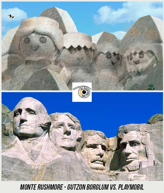 Esculturas-Monte-Rushmore-de-Gutzon-Borglum-Hecho-con-Playmobil