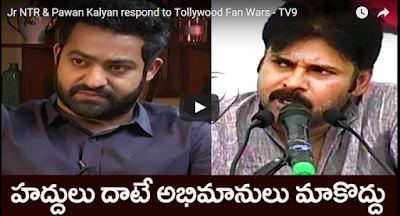 Jr NTR & Pawan Kalyan respond to Tollywood Fan Wars