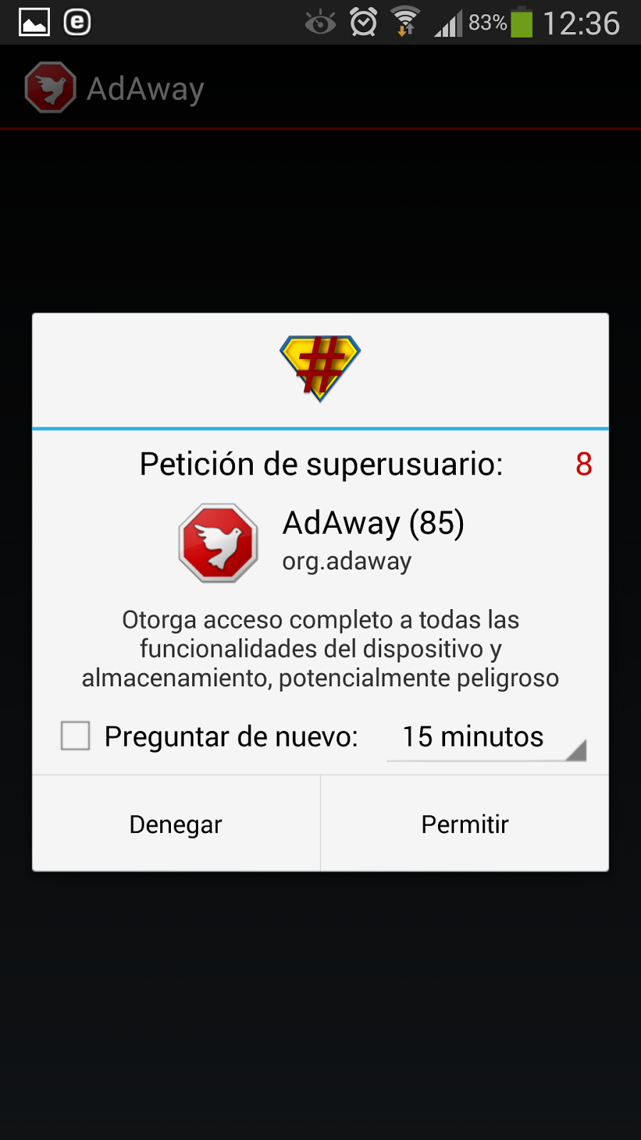 Adaway android sin roots