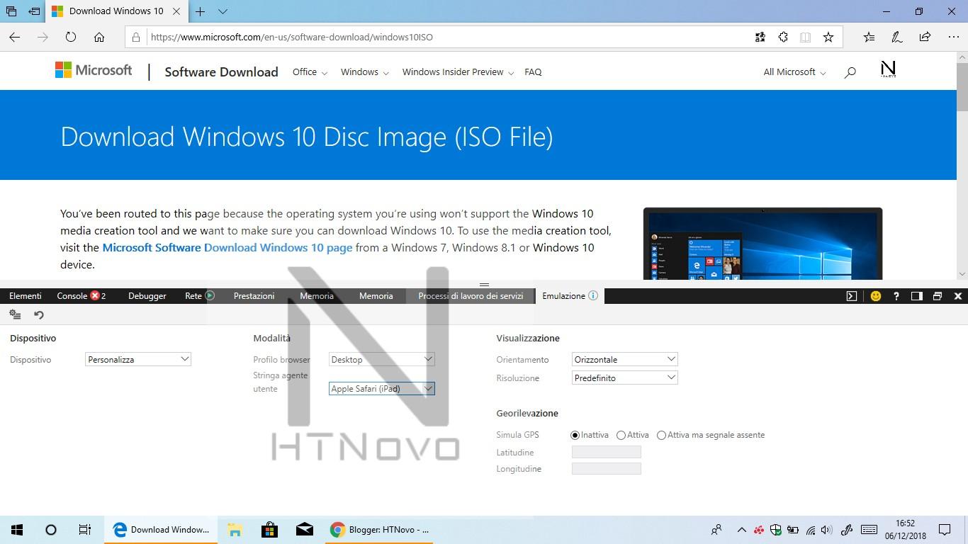 Come scaricare ISO ufficiali di Windows 10 1803 dopo il rilascio